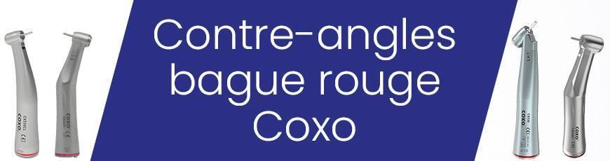 Contre-angles bague rouge Coxo. Instruments rotatifs dentaires qualité